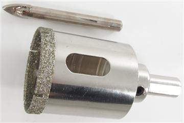 In Tegels Boren : Diamantboor tegels boormachine 50mm Ø 34mm boordiepte koelen met